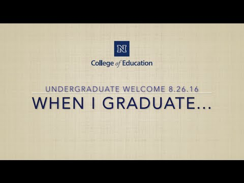 """When I Graduate..."" 