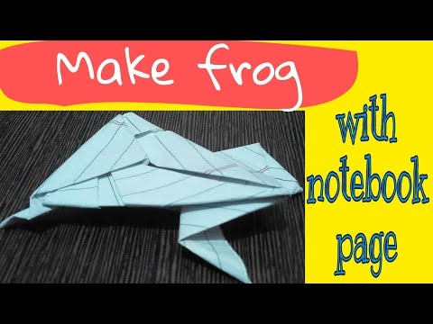 How to make paper frog    latest origami    by How to DIY