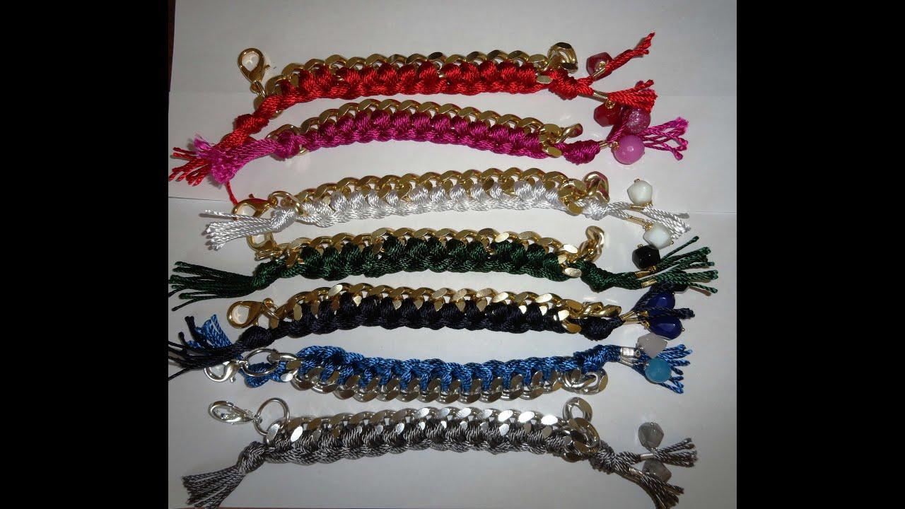 Favorito DIY: How TO: Realizzare bracciali con catena e filo di cotone  GK92