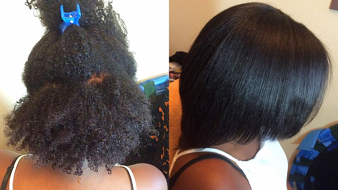 Straightening 4c Natural Hair: Light Press| Supa Natural