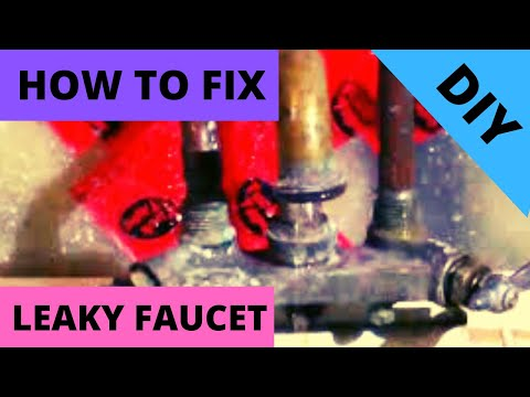 Bathroom Faucet Valve Seat fix leaky laundry tub faucet:part1 (replace valve seat washer) diy