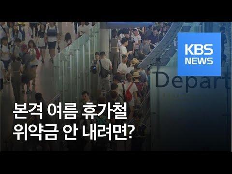 [법률의 쓸모] 본격 휴가철, 위약금 안 내려면? / KBS뉴스(News)