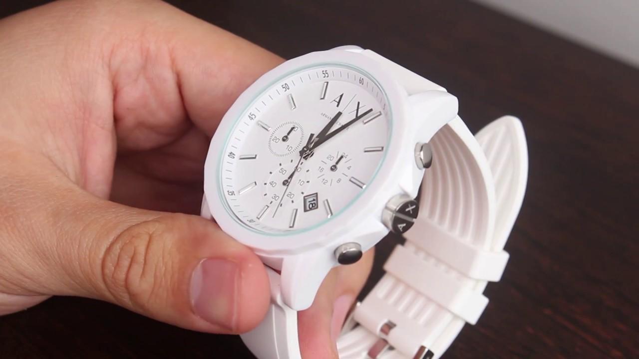 2aa338034649 unaluka  Reloj Armani Exchange AX1325 Cronógrafo Blanco Unisex