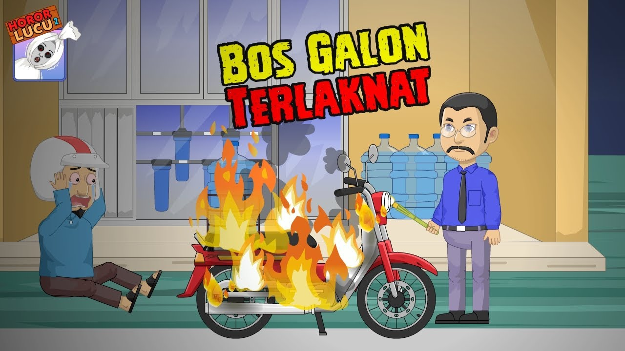 Kang Galon Genit☠Motorku MOGE☠Funny Cartoon☠Horor Lucu