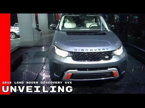 2018 Land Rover Discovery SVX Unveiling