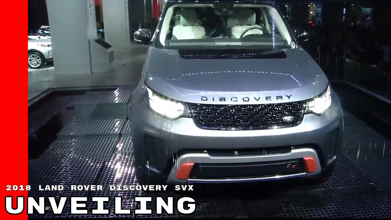 2018 land rover svx. delighful 2018 2018 land rover discovery svx unveiling with land rover svx