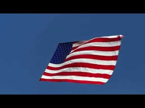 [10 Hours] American Flag Waving in a Blue Sky, Video & Audio