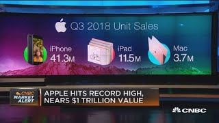 Gambar cover Apple hits record high, nears $1 trillion value