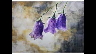 Drawing flowers(Diamond bluebe…
