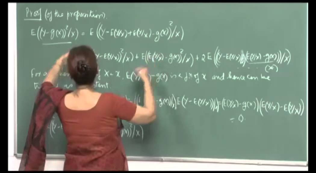 Mod-01 Lec-18 Conditional expectation, Best linear predictor