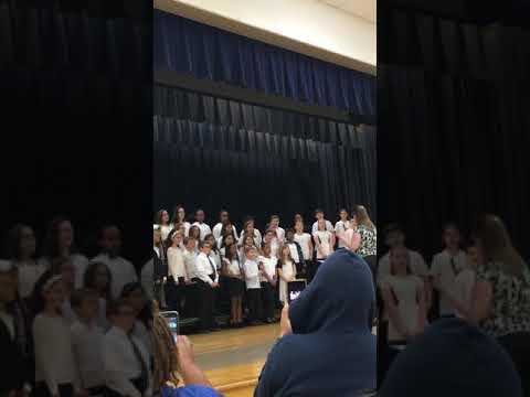 Chelssie's first chorus performance 4th grade-2019 Windsor Oaks Elementary School