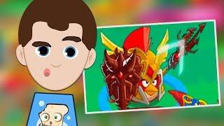 WIELKA ŚWINKA ZAJĄCZEK PRÓBUJE OKRAŚĆ CHUCKA - Angry Birds Epic (201)