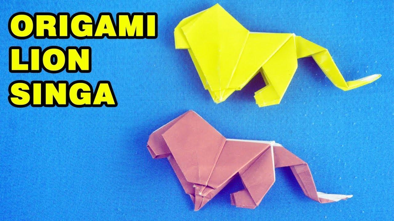 Cara Membuat Origami Singa Lion Origami Singa