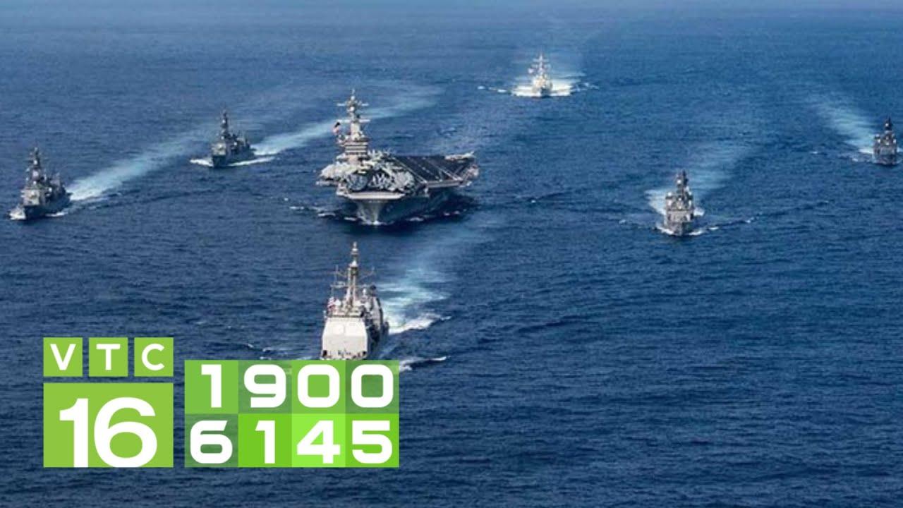 Trung Quốc ồ ạt đưa người ra biển Đông, Mỹ điều tàu chiến   VTC16
