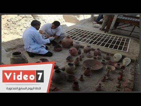 وزير الآثار يعلن اكتشاف مقبرة صانع الذهب فى الأسرة 18الفرعونية