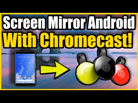 How To Use ChromeCast Screen Mirroring On Android Phone To TV (Android Mirroring Tutorial)