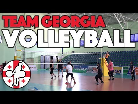 Team Georgia - Weightlifting Team Volleyball Match [4k]