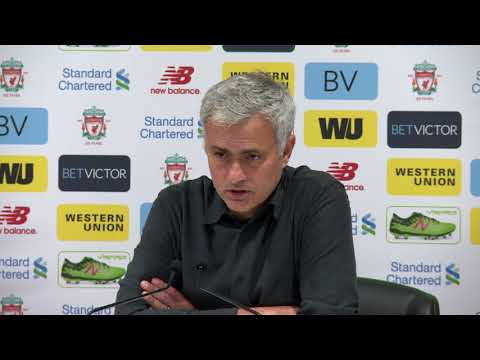 José Mourinho following Liverpool vs. Man United