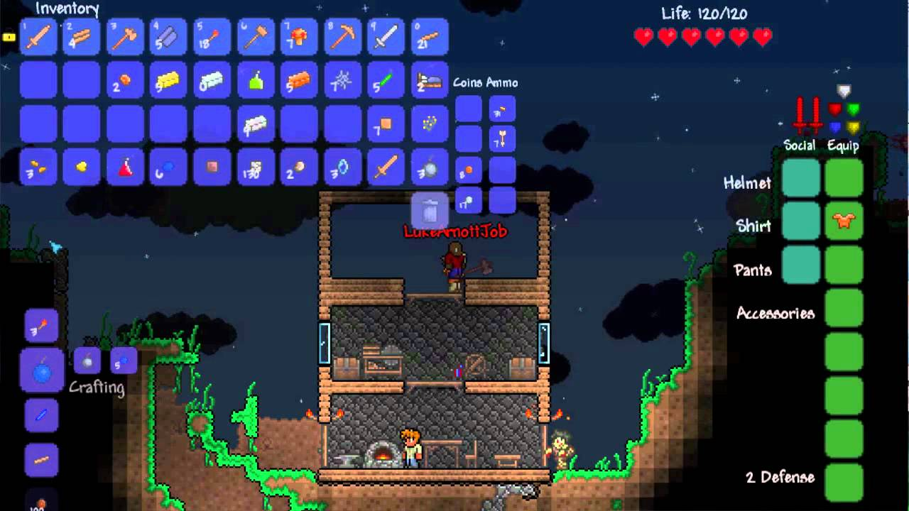 How to craft a bed in terraria ios