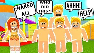 I TURNED THEM ALL INTO NAKED GUYS! Roblox Admin Commands Trolling | Roblox Funny Moments