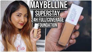 *NEW* MAYBELLINE SUPERSTAY 24 hour Full Coverage Foundation REVIEW | Stacey Castanha