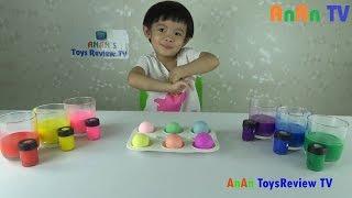Nhuộm màu trứng - Trò chơi nhuộm màu trứng - Coloring Easter Eggs ❤ Anan ToysReview TV ❤