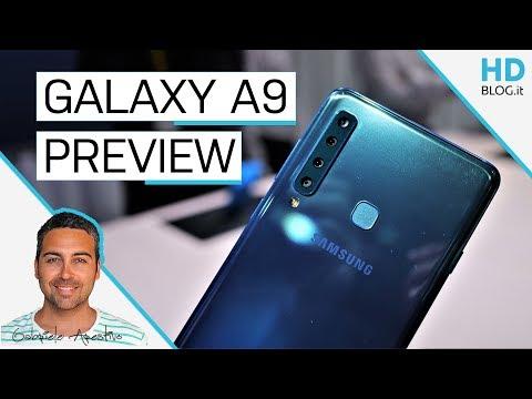 Samsung GALAXY A9 (2018) ha 4 fotocamere posteriori | Anteprima