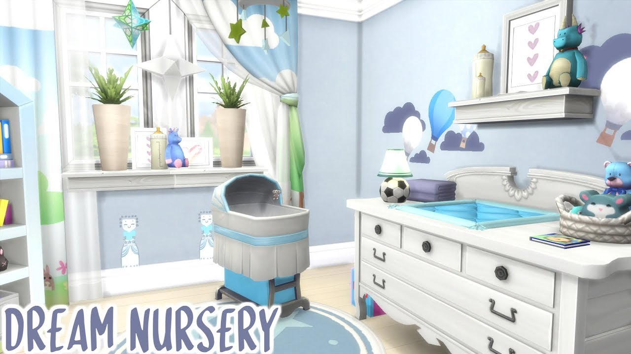 DREAM NURSERY 🍼 | The Sims 4 Speed Build - YouTube