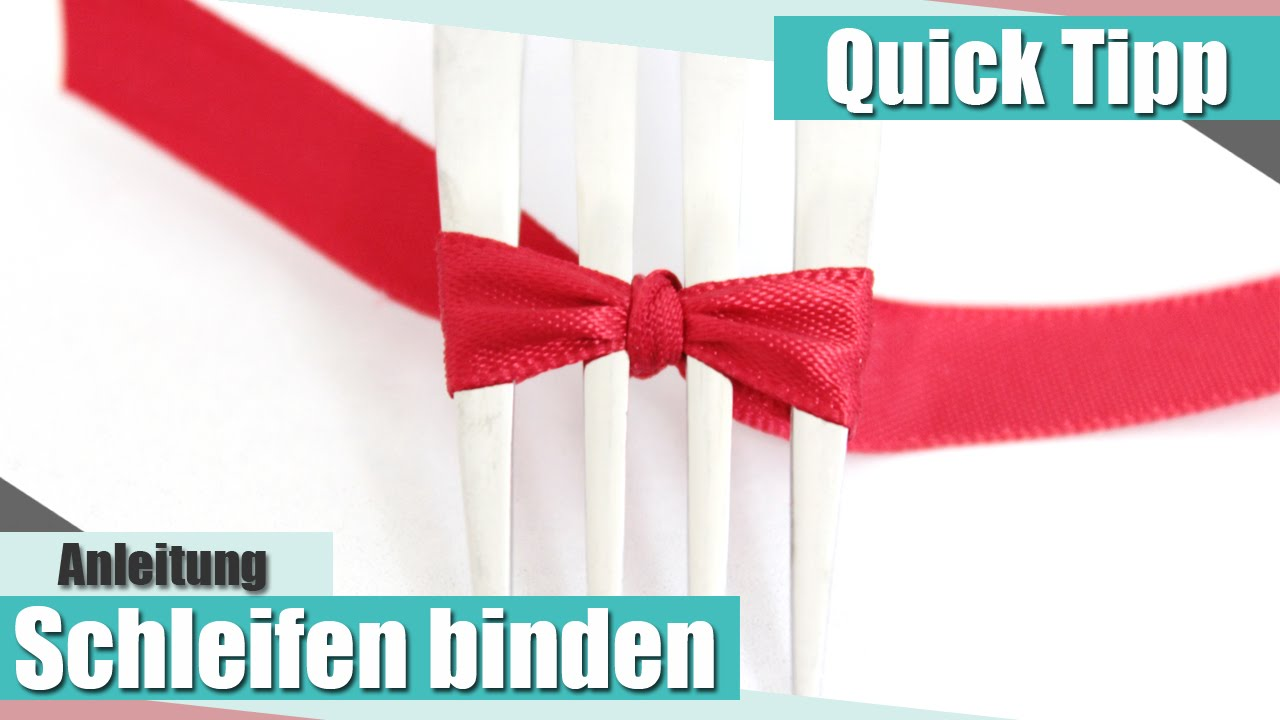 quick tipp schleifen binden how to tie a bow anielas. Black Bedroom Furniture Sets. Home Design Ideas