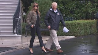 Melania Trump Criticized for Wearing High Heels as She Left for Texas