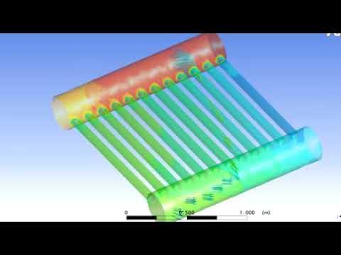 Simulation of Flow  Through Solar Heater Tubes.