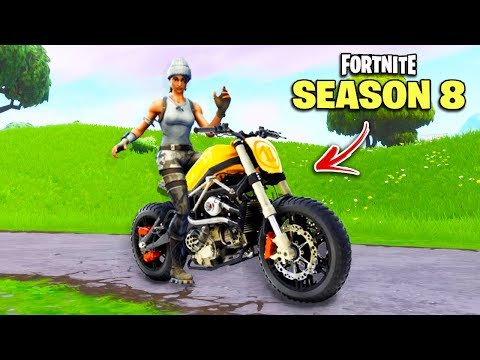 Fortnite SEASON 8 - ALL LEAKS, Locations & Vehicles! (Motorcycle, Skins)