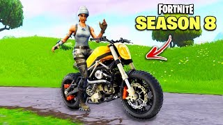 Fortnite SEASON 8 - ALL LEAKS, Locations & Vehicles! (Motorcycle, Skins)
