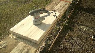 журнальный столик, столешница из дерева