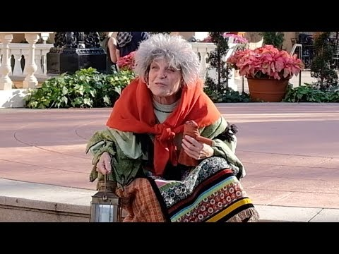 La Befana, the kind hearted witch at the Italy Pavilion in Epcot, Walt Disney World