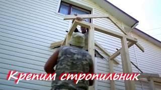 видео Как сделать крыльцо к дому из досок