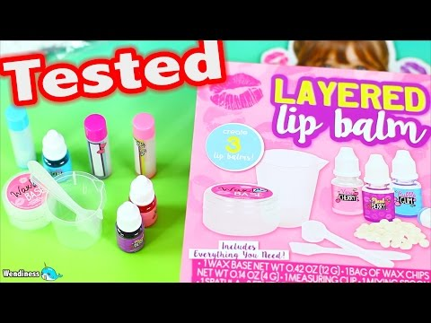 DIY Layered Lip Balm Kit Tested  - Does It Work ?