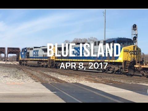 Trains at Blue Island