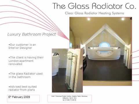 sgg Thermovit Elegance original presentation 2009 I The Glass Radiator Company I