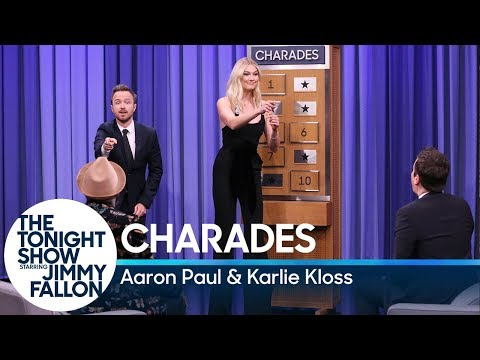 Download Youtube: Charades with Aaron Paul and Karlie Kloss