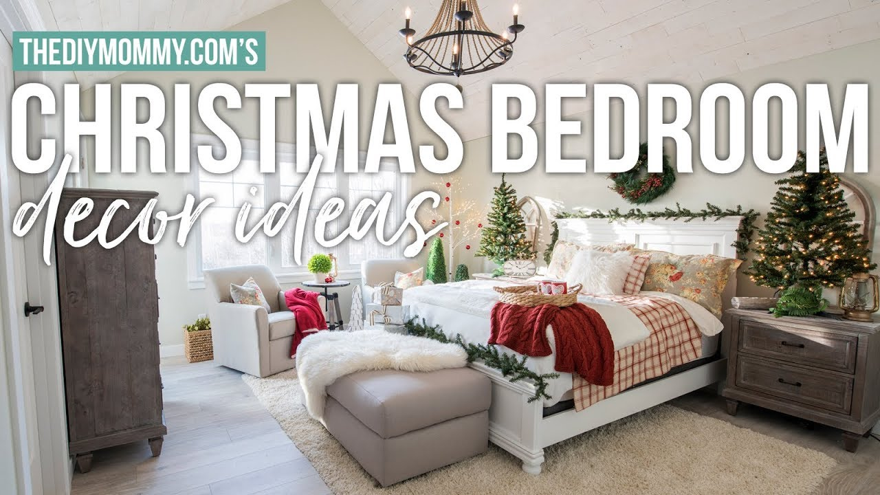 traditional christmas bedroom decor ideas the diy mommy - Christmas Bedroom Decor Ideas