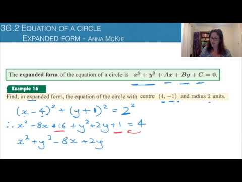 expanded form youtube  9G.9 Equation of a circle - expanded form