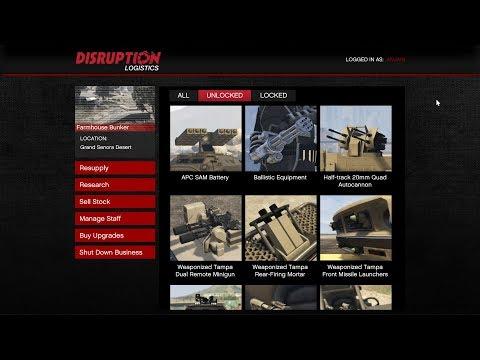 GTA ONLINE- All Bunker Research Upgrades List- Unlocked