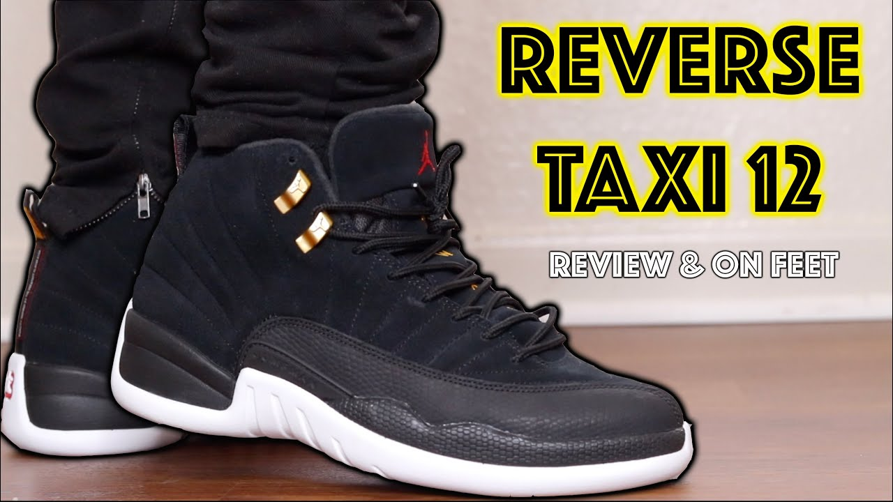 Air Jordan 12 Reverse Taxi Review \u0026 On