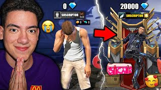 I GIVE 20 THOUSAND DIAMONDS TO A SUBSCRIBER AND BUY EVERYTHING IN YOUR FREE FIRE ACCOUNT | TheDonato