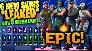 6 New UNRELEASED SKINS with LEAKED DANCE EMOTES! SHOWCASE Fortnite Battle Royale
