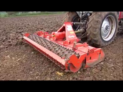 KUHN HRB 302D POWER HARROW WORKING DEMO