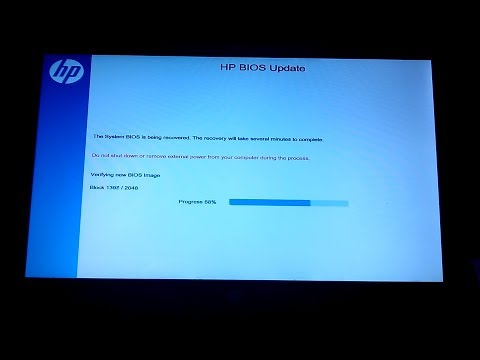 Attempted BIOS Recovery And BIOS Recovery Failure (HP 15-f033wm Notebook PC)