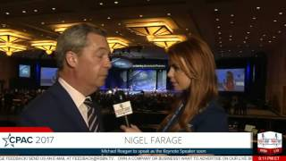Interview with Nigel Farage (Margaret Howell) -CPAC 2017