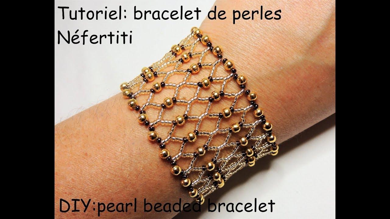 Tutoriel Bracelet De Perles Quotnefertitiquot Diy Pearl